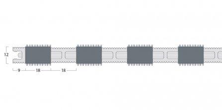 Esplanade 9000 Matting - 12mm Closed Construction - Single Wiper