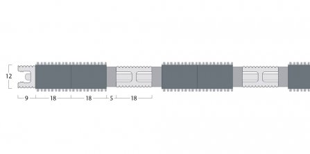 Esplanade 9000 Matting - 12mm Open Construction - Double Wiper